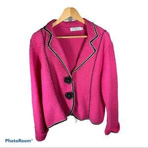 WILLOW Cotton Blazer Pink Size Large